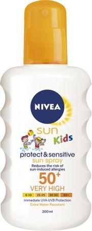 Nivea SUN Kids sprej za otroke Pure & Sensitive ZF50+