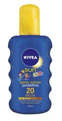 Nivea Sun otroški sprej za zaščito pred soncem ZF20, 200 ml