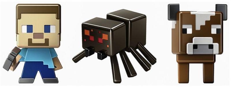 Mattel Minifigurky Minecraft 3ks