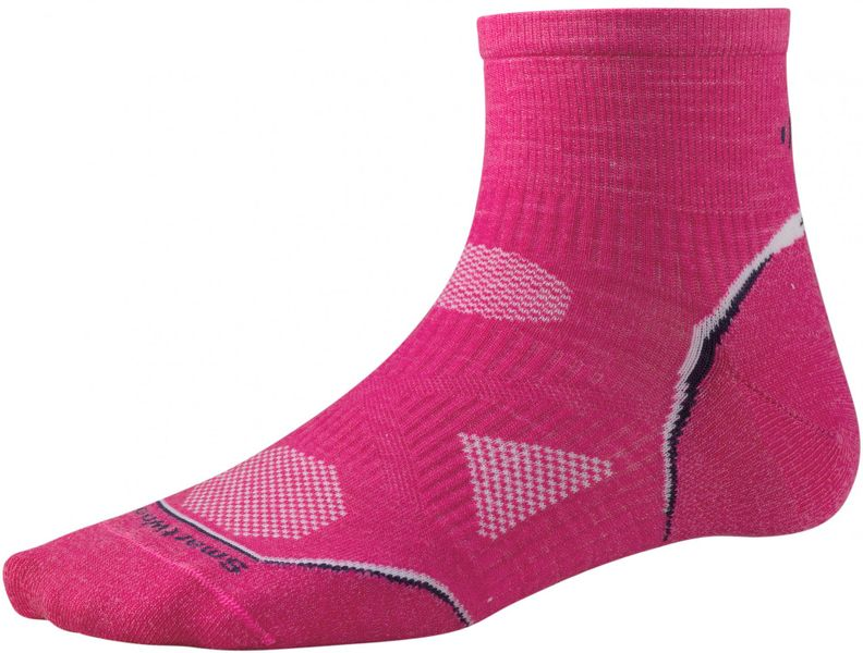 SmartWool Women's PhD Cycle Ultra Light Mini Bright Pink S