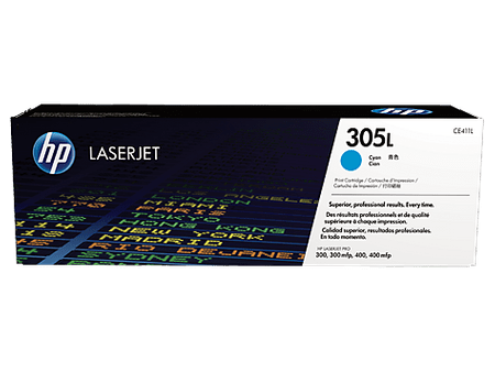 HP LaserJet CE411L 305L Toner, Cián