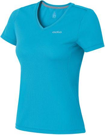 ODLO majica s kratkimi rokavi Liv, ženska, modra, XL