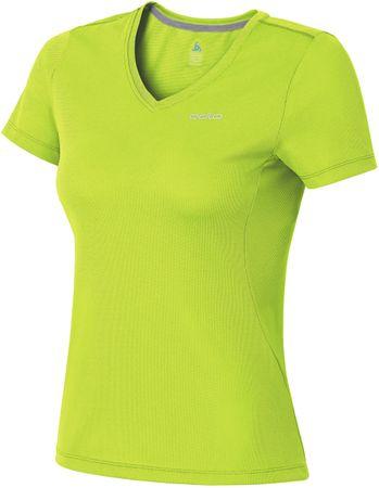 ODLO majica s kratkimi rokavi Liv, ženska, zelena, XS