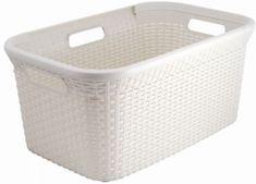 Curver košara za perilo ratan 40 L, bela
