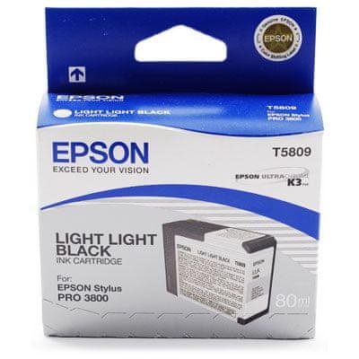 Epson kartuša T5809 Light Light Black(C13T580900)