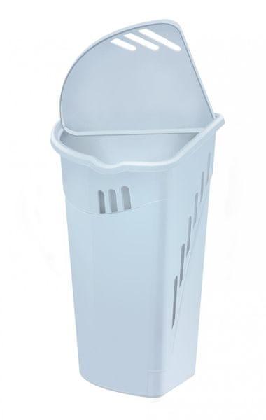 Heidrun Rohový koš na špinavé prádlo 35 l bílý