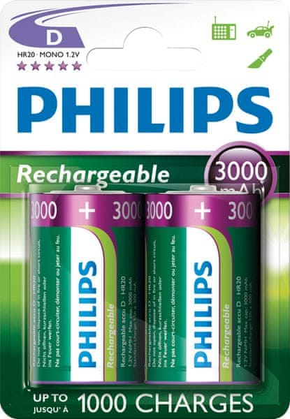 Philips D 2ks 3000mAh Rechargeables (R20B2A300/10)