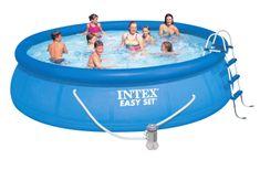 Intex bazen Easy Set, 457 × 107 cm, s kartušno črpalko, lestev, podloga, prevleka (28166)