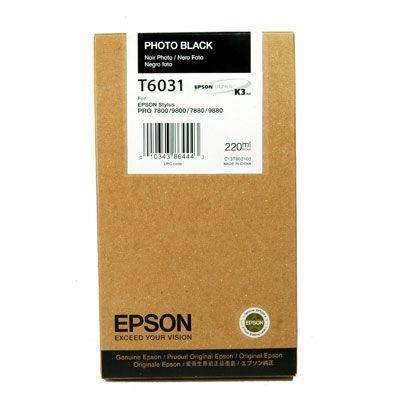 Epson kartuša T6031 (C13T603100), foto črna
