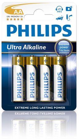Philips bateria 4 x AA Ultra Alkaline (LR6E4B/10)