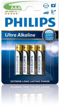 Philips baterije Ultra Alkaline Blister AAA, 4 kosi