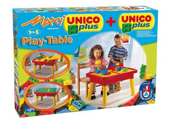 Unico Multi stół z klockami maxi+basic