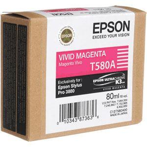Epson kartuša T580A (C13T580A00), Vivid Magenta