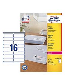 Avery Zweckform etikete L7162-100, 99.1 x 33.9 mm, bele
