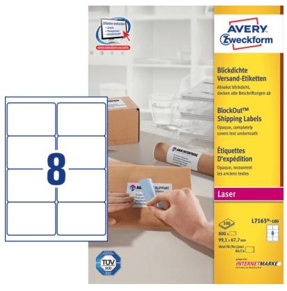 Avery Zweckform etikete L7165-100, 99.1 x 67.7 mm, bele