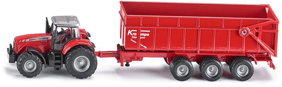 SIKU Farmer - Traktor Massey Ferguson s přívěsem, 1:87