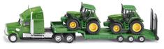 SIKU Farmer - Ťahač s podvalníkom a traktory John Deere, 1:87