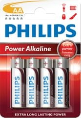 Philips AA 4ks Power Alkaline (LR6P4B/10)