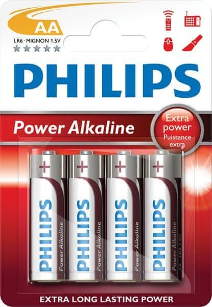 Philips AA 4ks Power Alkaline (LR6P4B/10)