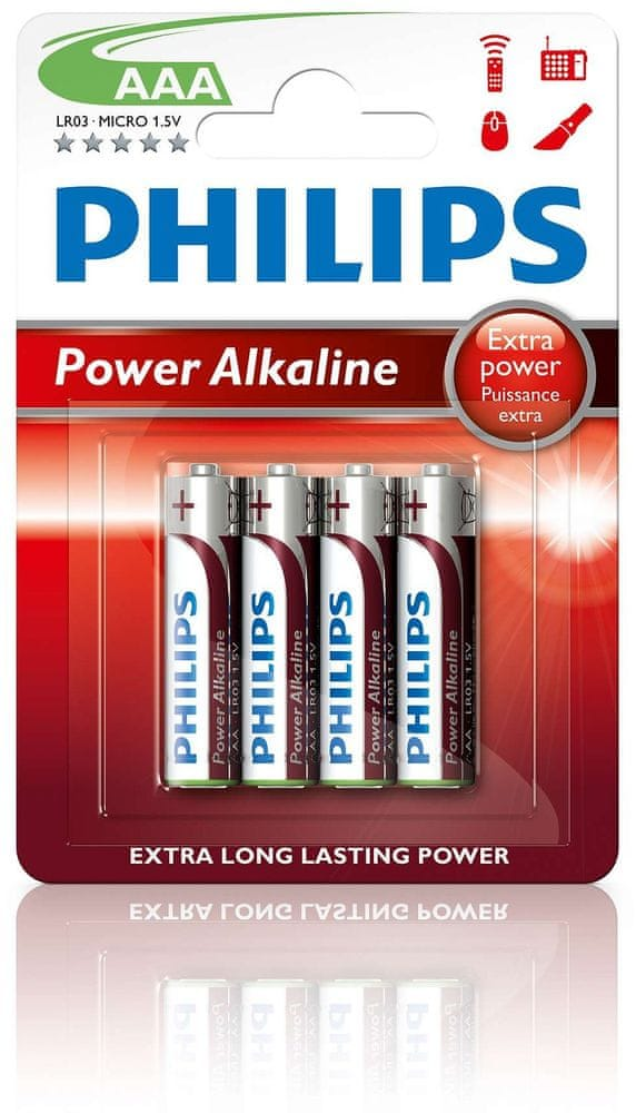 Philips AAA 4ks Power Alkaline (LR03P4B/10)