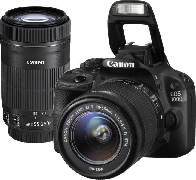 Canon EOS 100D + 18-55 STM + 55-250 STM + 1300 Kč od Canonu zpět