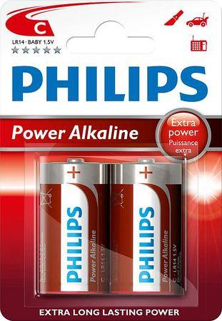 Philips C 2ks Power Alkaline (LR14P2B/10)