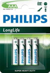 Philips baterie AAA 4 szt LongLife (R03L4B/10)