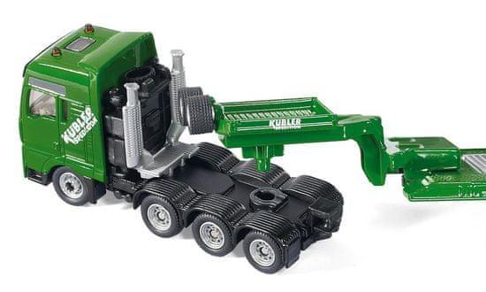 SIKU Super - Težek traktor z bagerjem in prometnimi znaki 1:87