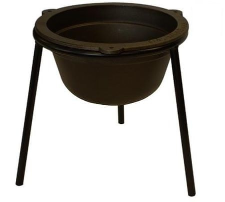 Gorenc litoželezen kotliček z okroglim stojalom, 7 l