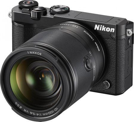 Nikon digitalni fotoaparat 1 J5 + 10-100mm, črn
