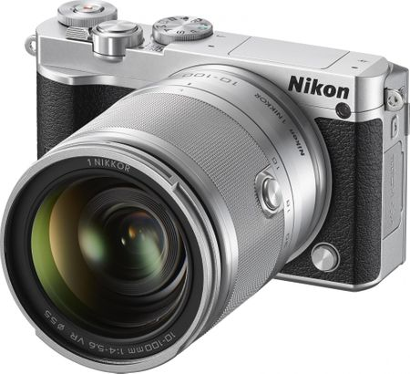 Nikon digitalni fotoaparat 1 J5 + 10-100mm, srebrn