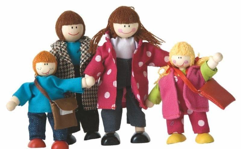 Woody Dřevěné hračky Panenky do domečku rodinka 4ks