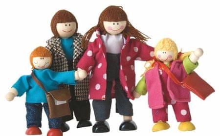 Woody Bábiky do domčeka - rodinka, 4ks