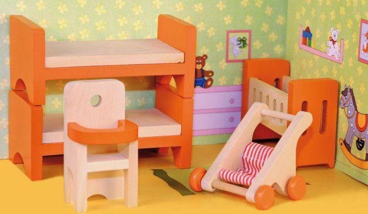 """Woody Nábytek do domečku """"Dětský pokoj"""""""