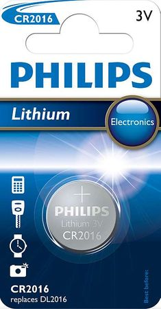 Philips CR2016 1ks Lithium (CR2016/01B)