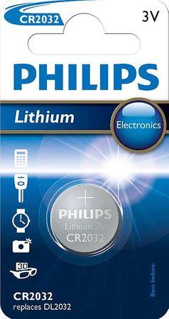 PHILIPS Lithium gombelem (CR2032/01B)