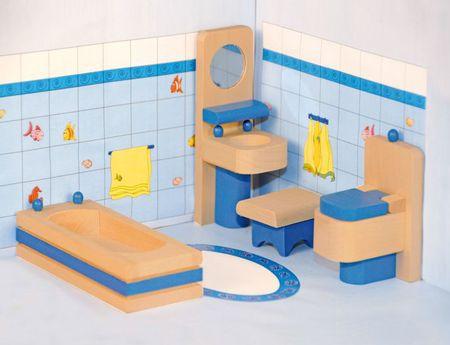 Woody pohištvo za hišico - kopalnica