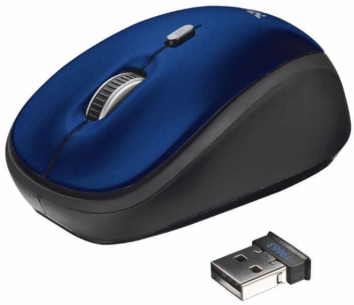 Trust Yvi Wireless Mini Mouse Blue (19663)