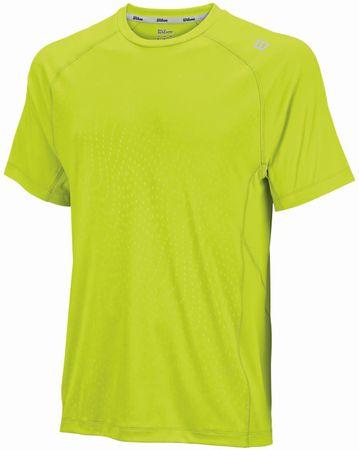 Wilson majica s kratkimi rokavi Spring Embossed Crewneck, moška, rumena, M