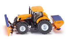 SIKU Super: traktor s plugom in trosilcem soli, 1:50