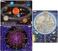 LARSEN Puzzle set Slnečná sústava, Súhvezdie, Mesiac MAXI