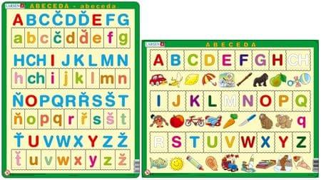 LARSEN Česká ABECEDA s obrázky puzzle set MAXI