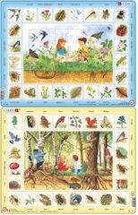 LARSEN Puzzle set Život na louce a Život v lese MAXI
