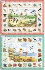 LARSEN Puzzle set Život pri rybníku a Život pri mori MAXI
