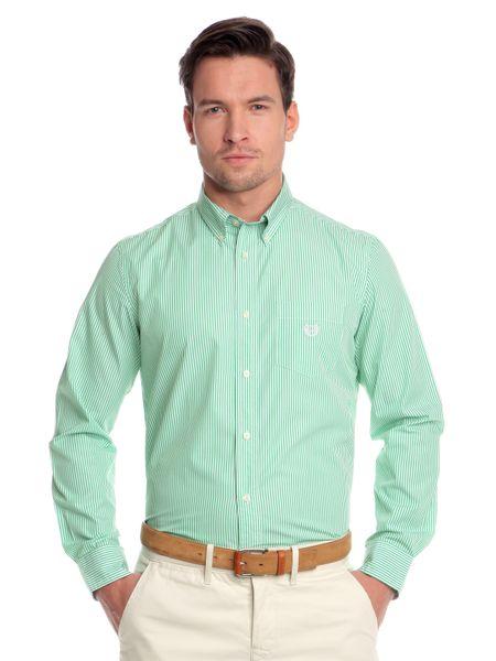 Chaps pánská jemně proužkovaná košile XXL zelená