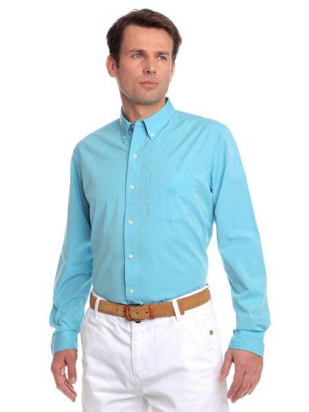 Chaps pánská košile s náprsní kapsičkou M tyrkysová