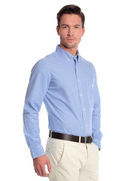 Chaps jemně kostkovaná pánská košile L modrá