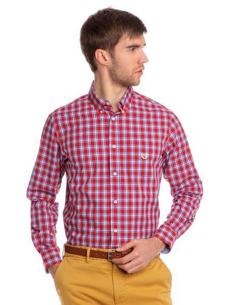 Chaps slušivá pánská košile s kostičkovaným designem XXL červená