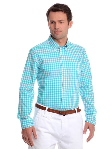 Chaps pánská košile s náprsní kapsičkou XXL tyrkysová