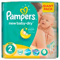 Pampers New Baby 2 Mini (3-6kg) Giant Pack - 100 ks